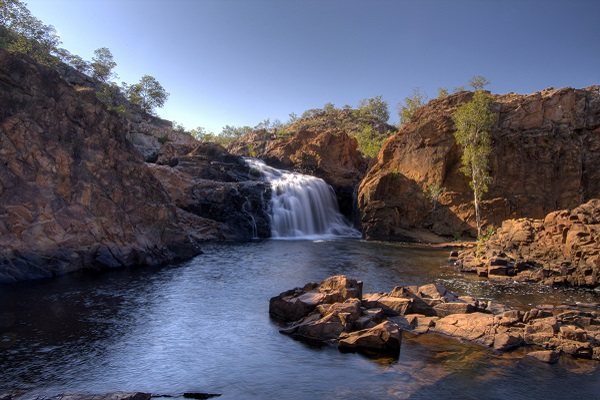 The beautiful Edith Falls in Australia's Nitmiluk National Park.