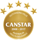 Canstar outstanding value Australian health insurance