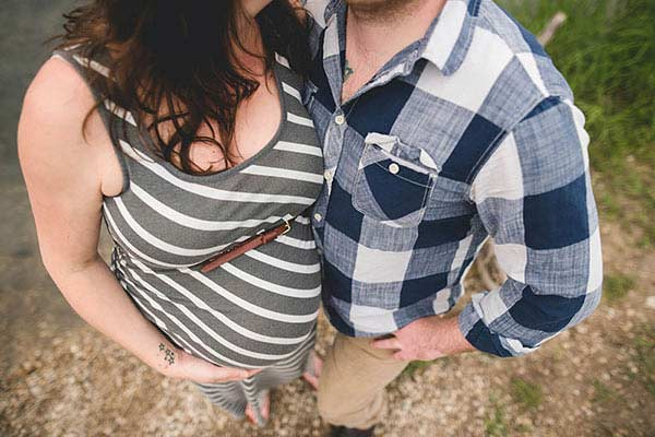 A pregnant woman and her partner