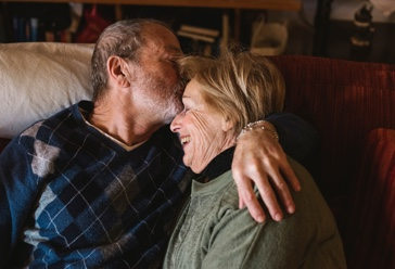 Elderly couple with funeral insurance